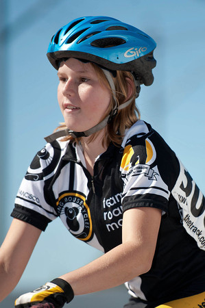 Junior girl racing