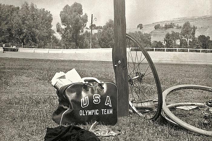 Bag belonging to Olympian Jack Disney